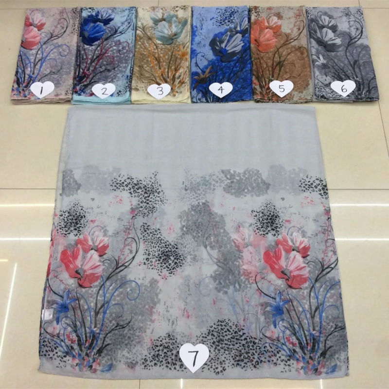 2016 Chinese ink drawing floral scarf cosy voile women scarves and shawls fashion flowers pattern shawl foulard hot sale wraps(China (Mainland))