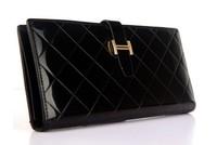 15Slot 2015 women female plaid designer long wallets with phone bag famous brand leather purse carteiras femininas em couro 5