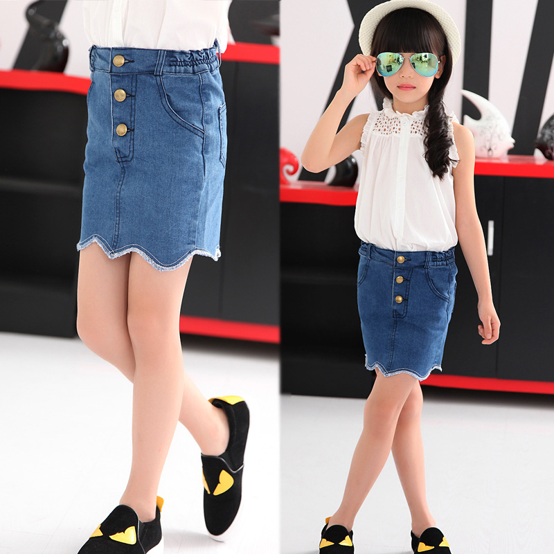 Image result for kids wear short denim skirts