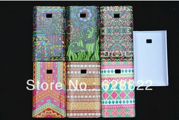 For LG L3 cell phone case ,newest Leopard grain /feet shape /fancy colorful three to one tripe phone cover.
