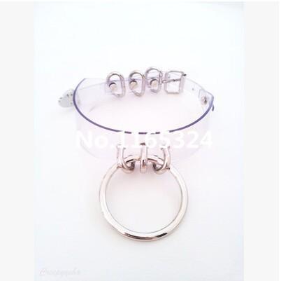 100% ручной работы панк Rock пряжка прозрачный прозрачный колье, Big O круг металл воротник ожерелье ювелирные изделия