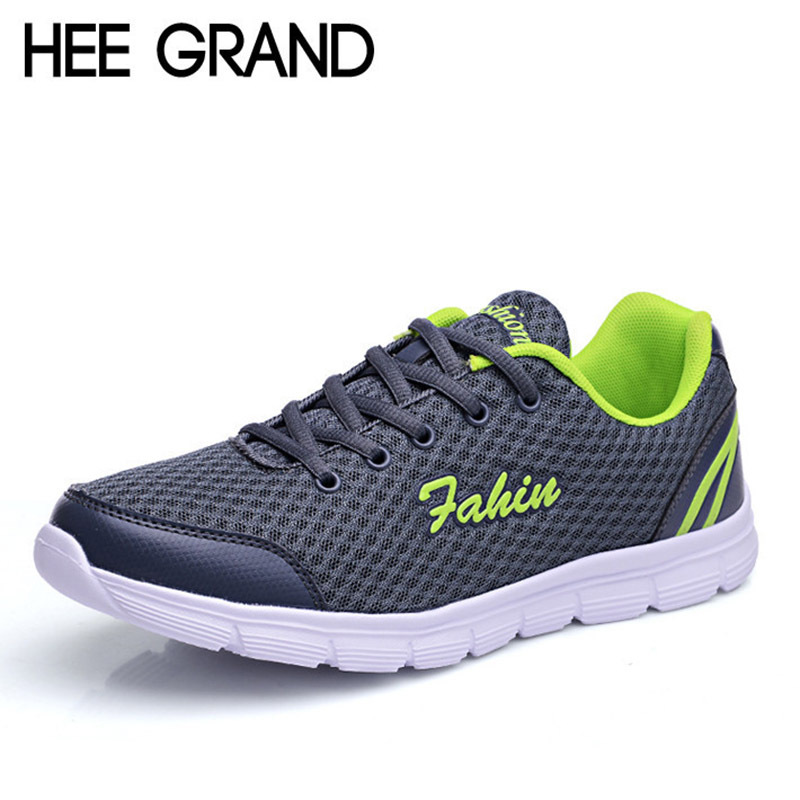 2015 Mans Sneakers Hot Mesh Lace-up Flat Shoes Casual Breathable Shoes Men Fashion Sneaker Size Plus 39-45 XMR985<br><br>Aliexpress