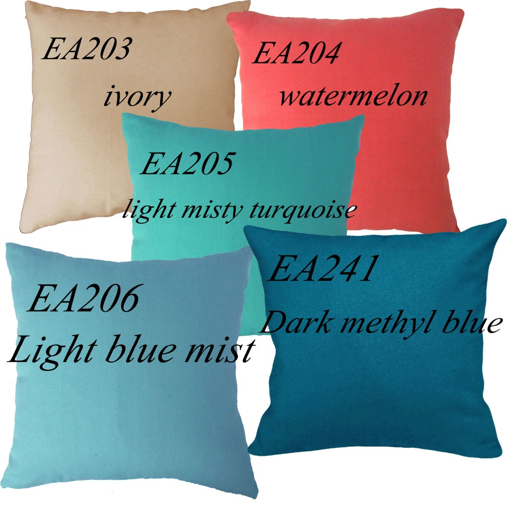 EA203 EA204 EA205 EA206 EA241 watermelon ivory Red Blue light misty turquoise 100% Cotton Canvas Cushion Cover Pillow Case - Moses DaBenGou Co., LTD Christ is the answer store