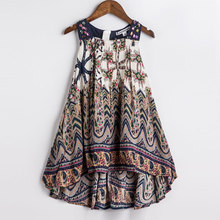 Neonate del vestito da estate 2016 nuovi capretti di marca stampa vestito da partito per le ragazze della boemia bambini abiti di moda(China (Mainland))