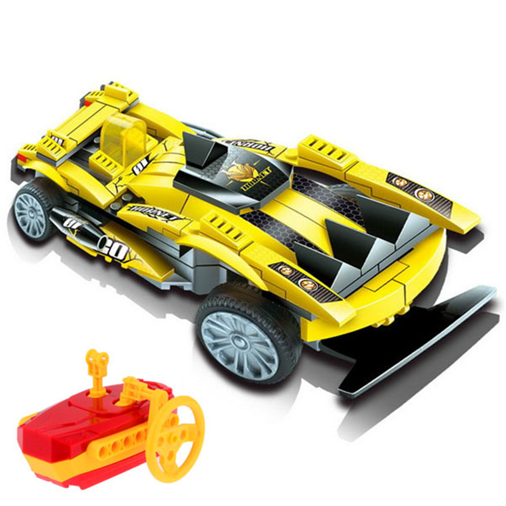 Educational Toys Building Block Vehicle Rc Car Assembling Toys Remote Control Car Model Kid Toy