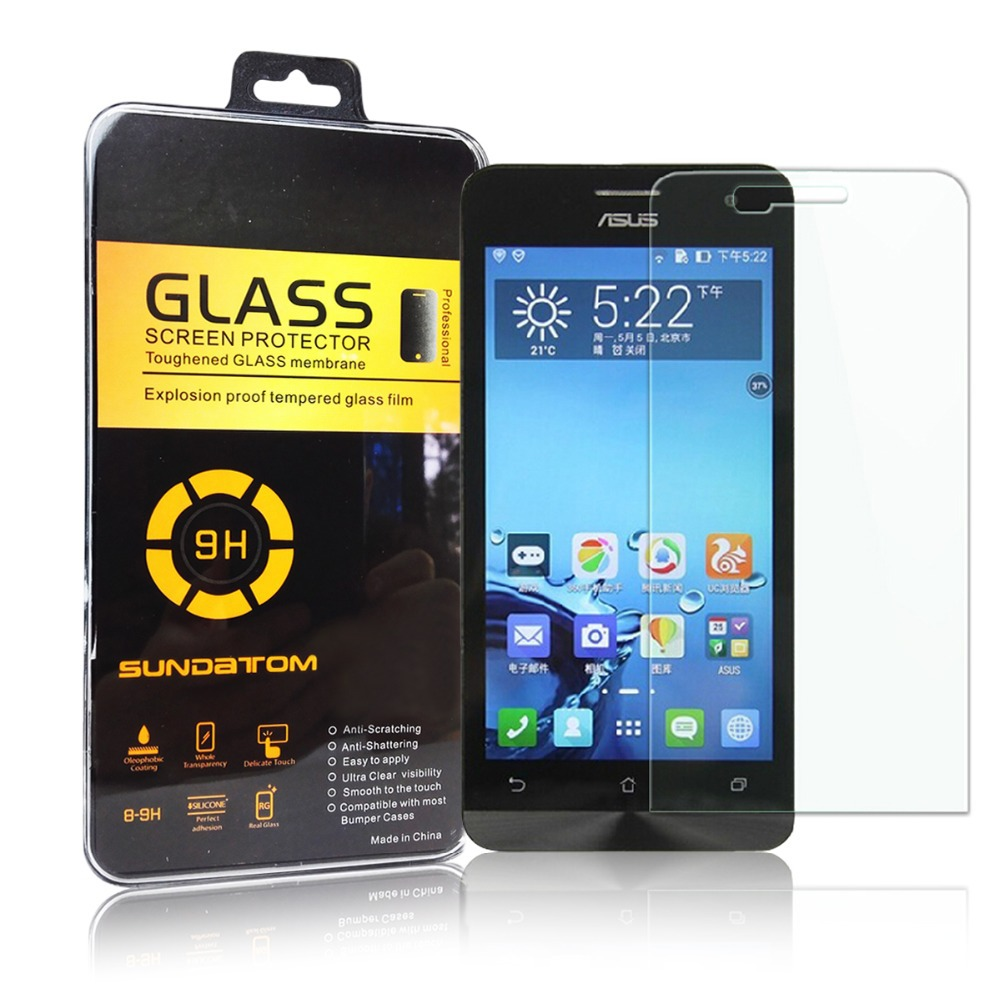 Explosion-Proof High Clear Tempered Glass Screen Protector ASUS Zenfone5 Zenfone 5 Anti Shatter Film  -  SUNDATOM official store store
