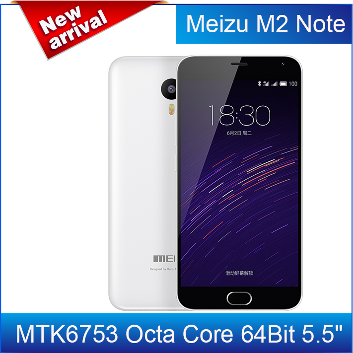 "Case+film)gift!Original Meizu M2 Note 2 4G FDD LTE M464U Android 5.0 MTK6753 Octa Core 64Bit 5.5"" 1080P 2G RAM 13MP 3100mAh(China (Mainland))"