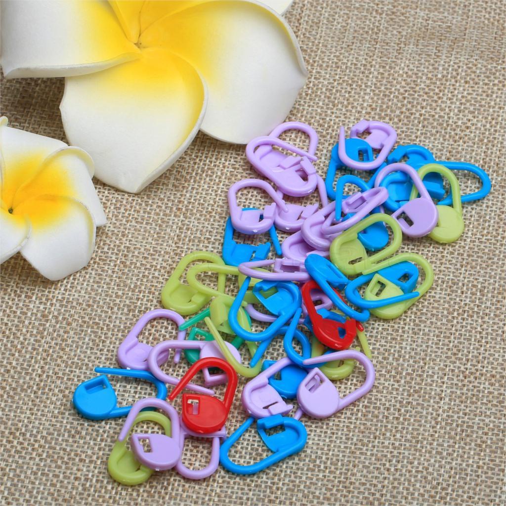 Knitting Locking Stitch Markers : Plastic Markers Holder Needle Clip Mix Mini Knitting Crochet Locking Stitch M...
