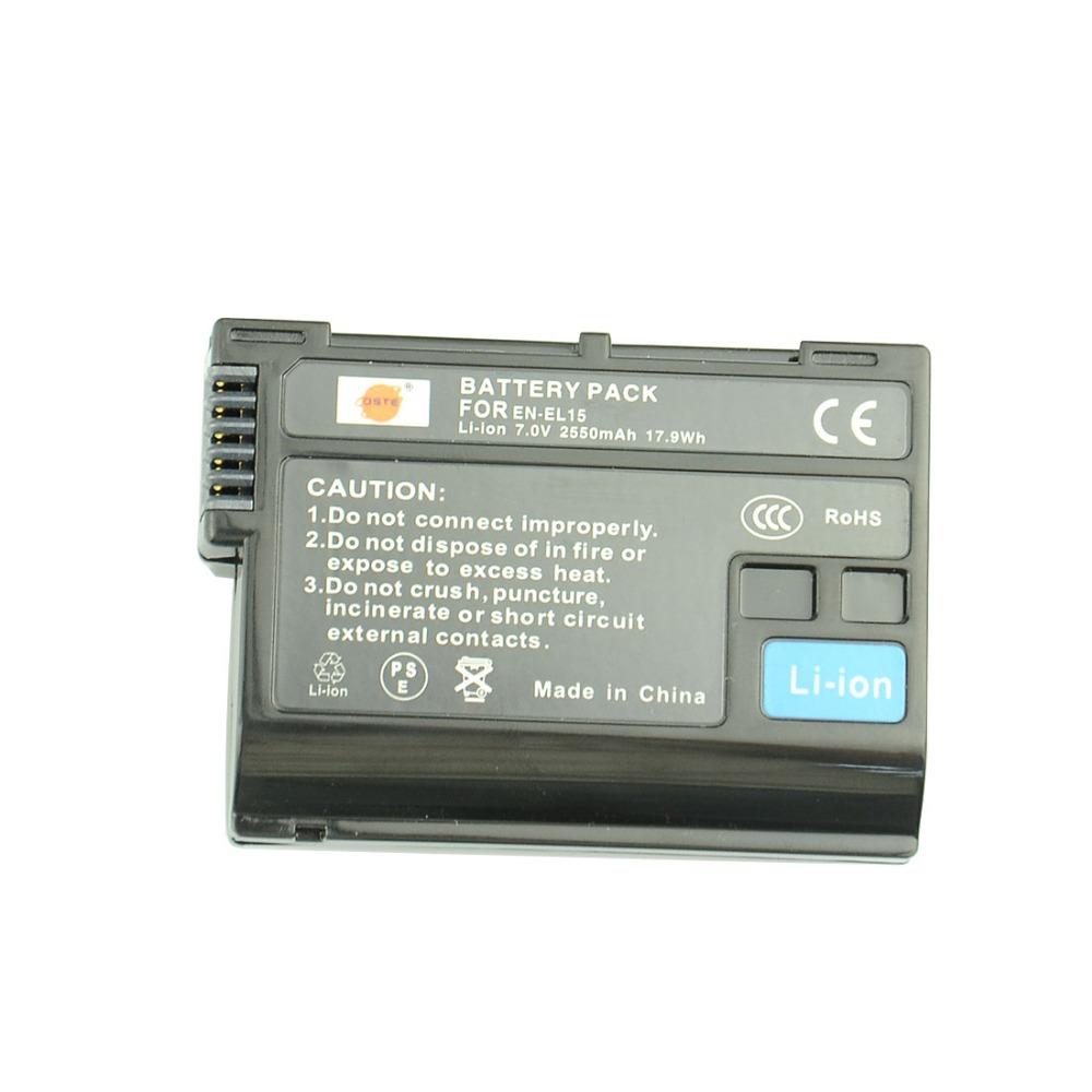 Гаджет  DSTE 2550 mAh EN-EL15 Rechargeable Battery For Nikon D7000 D7100 D800 D800E D600 D610 D810 V1  None Электротехническое оборудование и материалы
