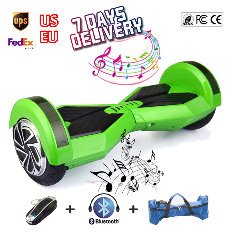 Electric Skywalker Board with Bluetooth Hooverboard 8 inch Two Wheel Scooter Electrico Unicycle Smart Balance Wheel Duas Rodas(China (Mainland))
