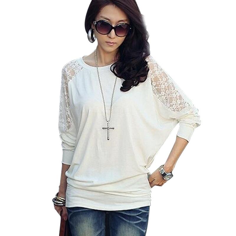 Womens Body Lace Crochet Bats Shirts camisas O neck blusas femininas