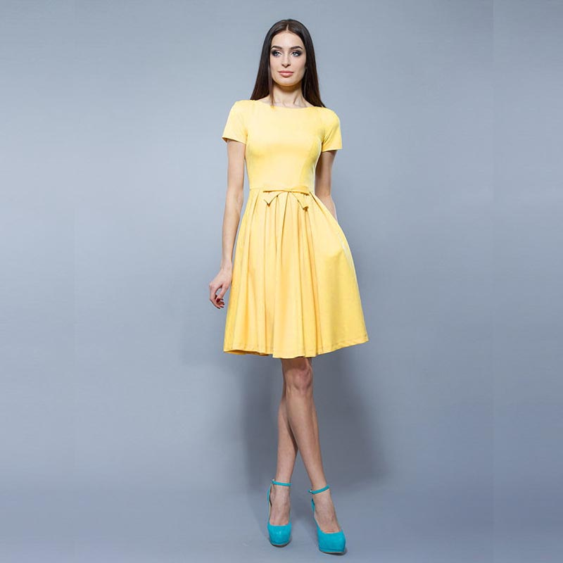 Yellow Cocktail Dress - Dress Xy