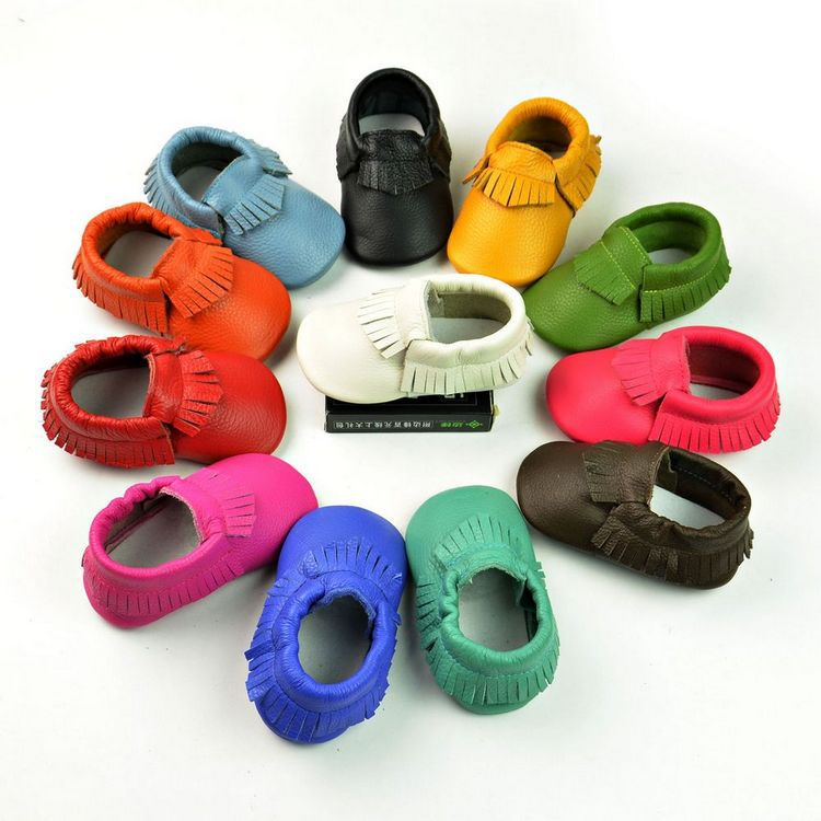 2014 new Genuine leather toddler shoes baby shoes fashion soft sole shoes girls boys tassel shoes first walkers