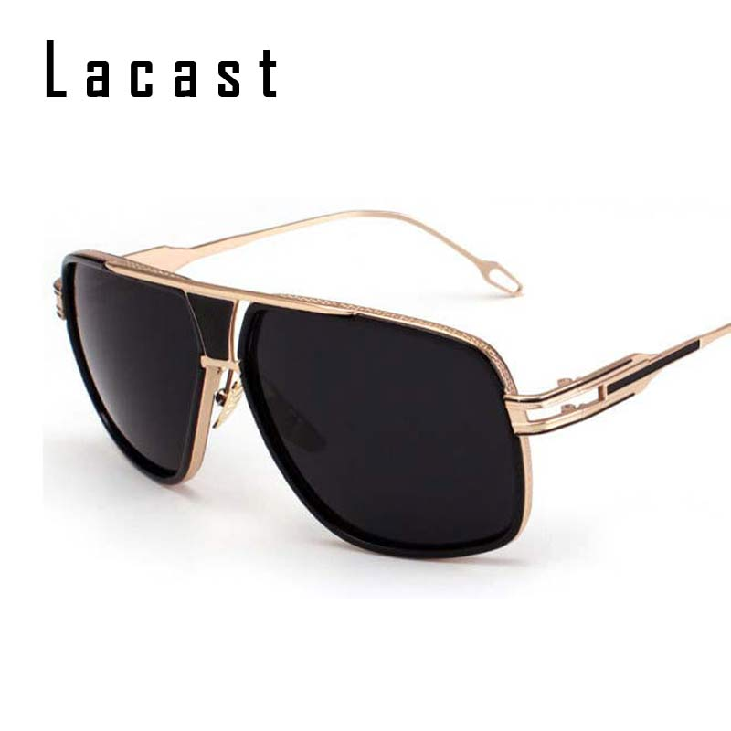 2016 New Brand Designer Vintage Women Metal Sunglasses Men Retro Gold Flat Top Alloy Sun Glasses Oversized Street Style D356(China (Mainland))