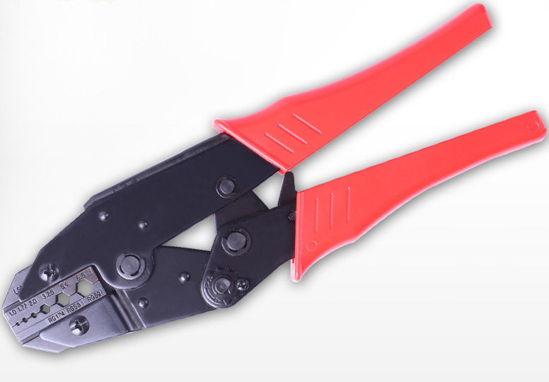 Coaxial crimper crimping Tool LS-02H1 for coaxial cable BNC,fiber optic,RG58 RG59 RG62 hex crimp plier(China (Mainland))