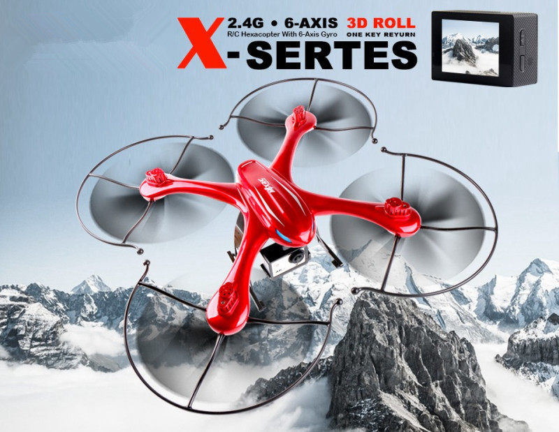New PROFESSIONAL rc drone X102H FPV RC Quadcopter Drone can With 14.0 HD Camera 2.4G 6-axis RC Helicopters