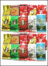 20 pcs 10 Different Flavors Oolong Tea,Milk oolong tea,Ginseng oolong,TiKuanYin ,DaHongPao,Puer tea +Free gift,Free shipping