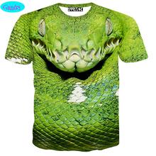 11-19 years big boys t-shirt personality 3D viper printed short sleeve tshirt kids clothing street skate boy tees tops DT26