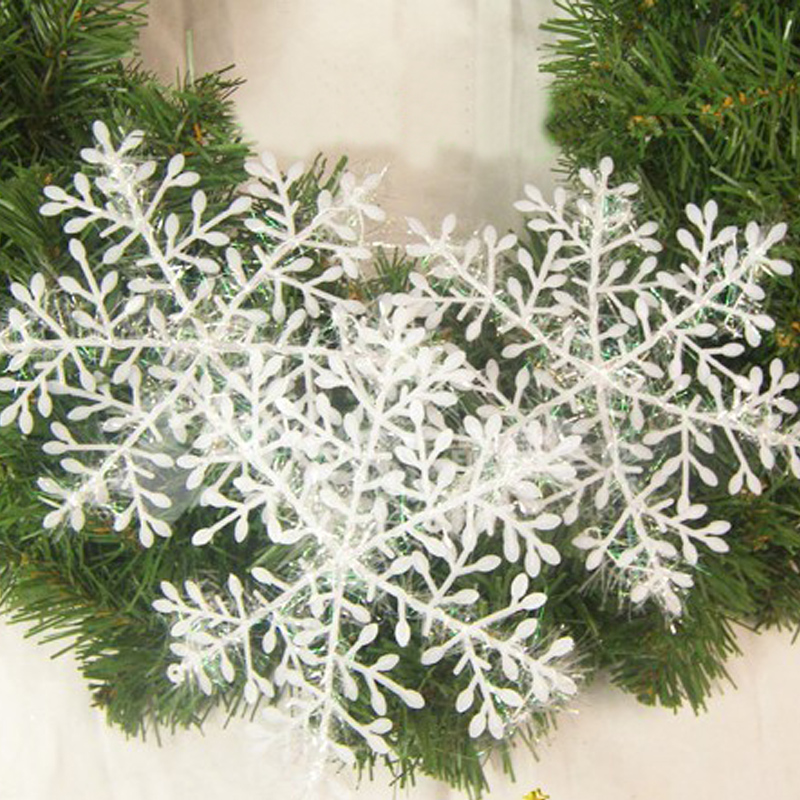 30x White Snowflake Ornaments Christmas Tree Decorations For Home Festival Party 2016 Hot(China (Mainland))