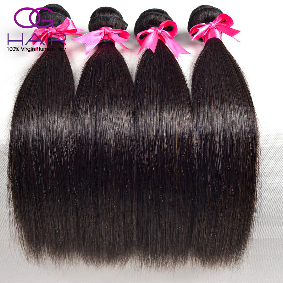 Top Grade 6A guangzhou ali queen hair products 3pcs lot  virgin brazilian straight hair weave100 human hair sew in extensions(China (Mainland))