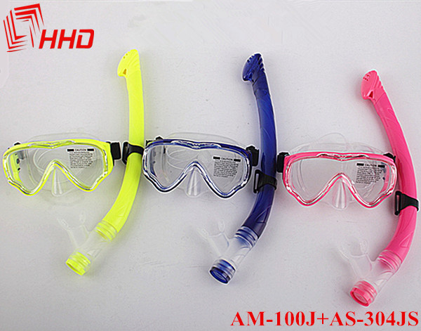 New 2014 Scuba Diving Mask Snorkel Glasses Set Silicone Swimming Pool Equipment(China (Mainland))
