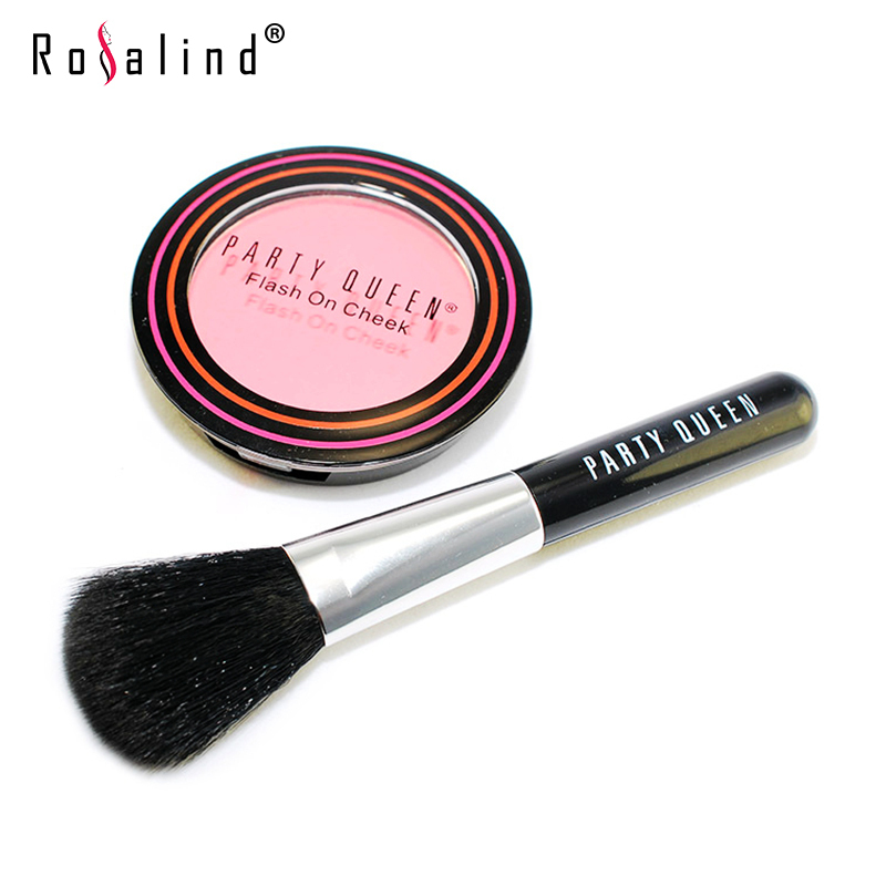 Rosalind Face Blush With Blush Brushes Professional Beauty mc Makeup Set Natural Blusher Hot SALE(China (Mainland))