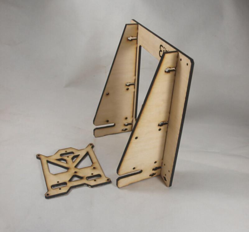 Фотография 3D printer DIY Reprap Mendel prusa mini i3 wooden frame Case 6mm thickness free shipping