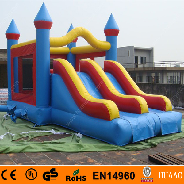 Commercial Double Lane Inflatable Bouncer Slide Combo with Free CE Blower(China (Mainland))