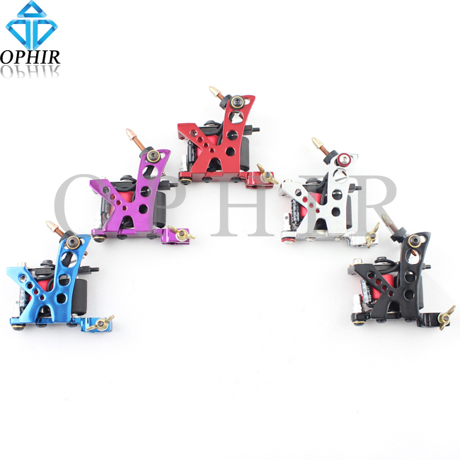 OPHIR 5pcs/lot Liner Tattoo Gun Dragonfly Rotary Tattoo Machine 8 Wrap Coil Dual-coiled Shader Liner #TA019A-E(China (Mainland))