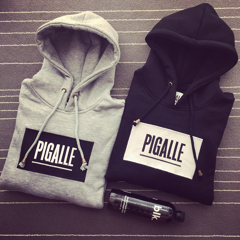 Men hip hop sport skateboard pigalle hoodies brand tracksuit women embroidery sweatshirt pullover clothing sudaderas hombre(China (Mainland))