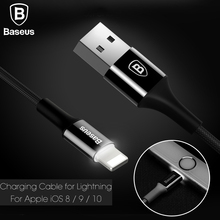 Buy Baseus Original USB Charger Cable iPhone 7 6 Plus iPhone 5 Data Cable Lightning 2A Fast Charging Cable LED light for $3.99 in AliExpress store