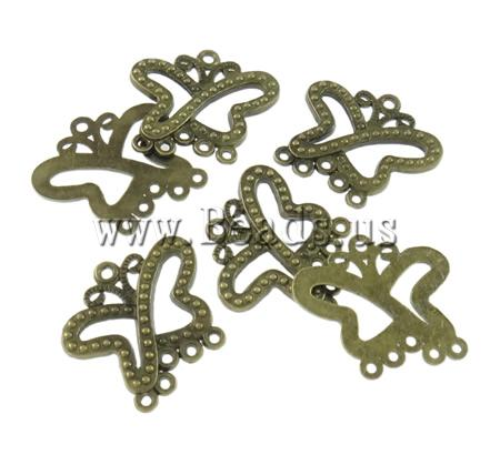 Free shipping!!!Zinc Alloy Connector,New Arrival, Butterfly, antique bronze color plated, nickel, lead & cadmium free