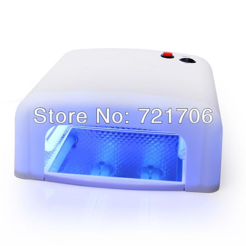 DHL Free shipping. 36W White Nail Art UV Gel Curing Lamp Dryer Light UV lampEU PLUG 220~240v  Dropshipping
