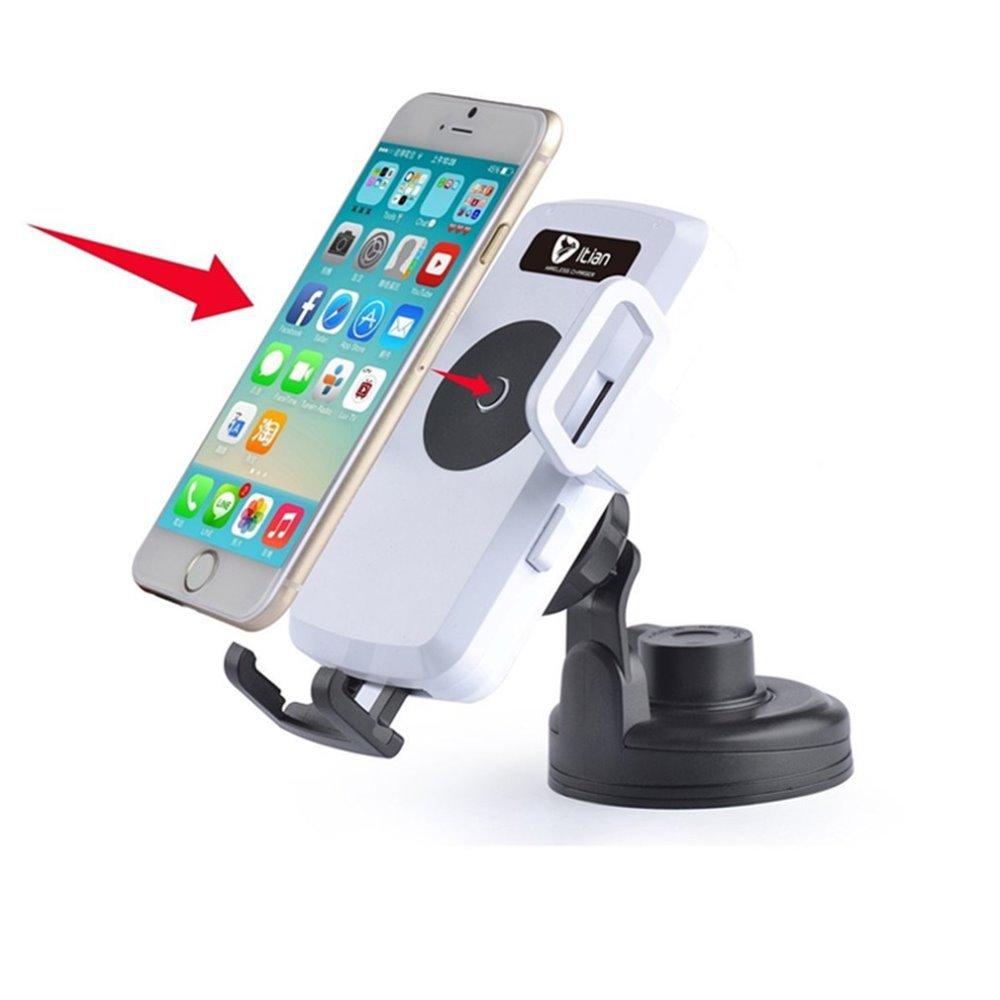 Itian Qi wireless charging standard car S6GalaxyS6edge Google iphone6plus Samsung car charger emitter base black(China (Mainland))