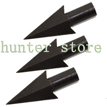 Free ship 7pcs black archery arrow heads broadheads swallow tail shaped bamboo arrow tips for recurve