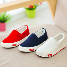 2015 YEESHOW Classic Canvas Kids Shoes For Children,Slip On Girls Shoes,Boys Shoes,White Children Shoes Girls,Meninos,Size 19-37