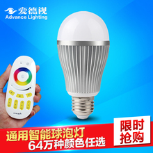 Ed, as the intelligent remote colorful led lighting bulb e27 screw 6w9w12w wholesale energy-saving lighting(China (Mainland))