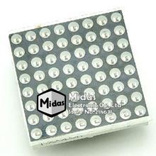 [Midas] Free Shipping 1 PCS Red 3MM Common Cathode 8x8 8*8 16 Pin Dot Matrix LED Displays Digital  Module Size 32x32mm(China (Mainland))
