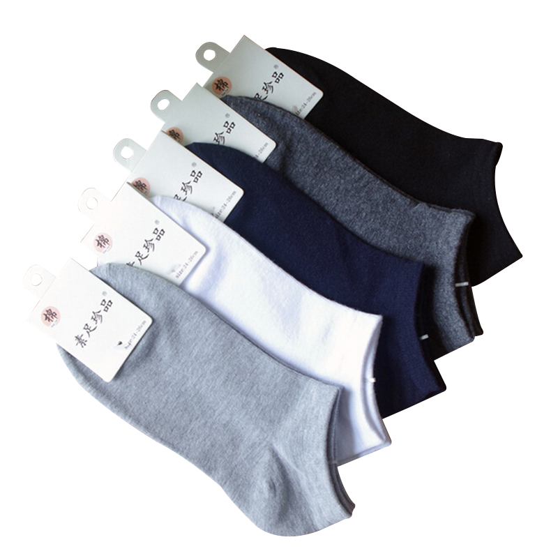 spring summer men cotton ankle Socks for men's business casual solid colors short socks male sock slippers 5pairs/lot s02(China (Mainland))