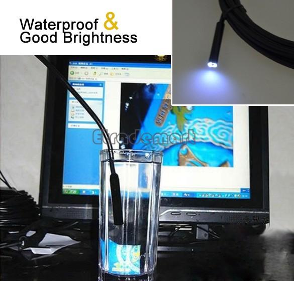 5M Cable 7mm Lens Waterproof Mini USB Endoscope Inspection Camera Borescope Flexible Tube Snake Scope 6LED 18(China (Mainland))