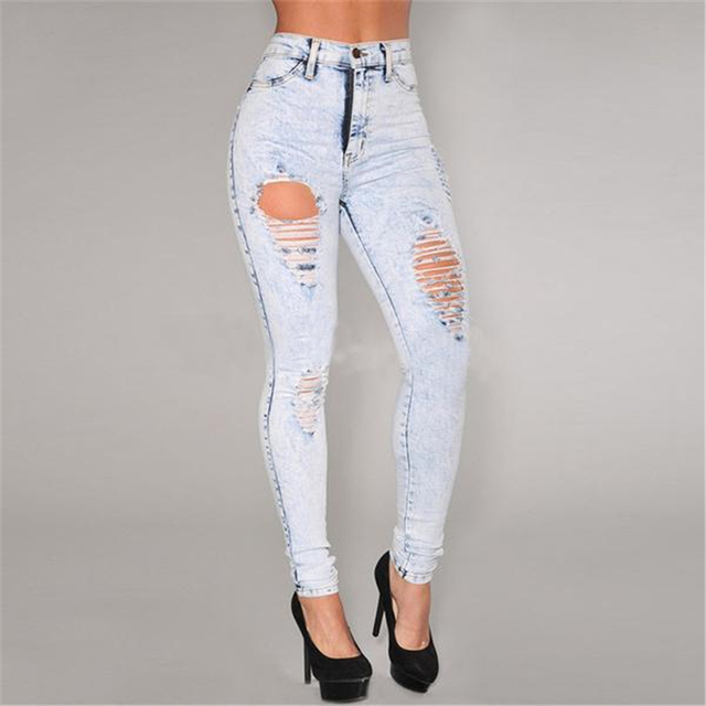 Light colored ripped jeans – Global fashion jeans models