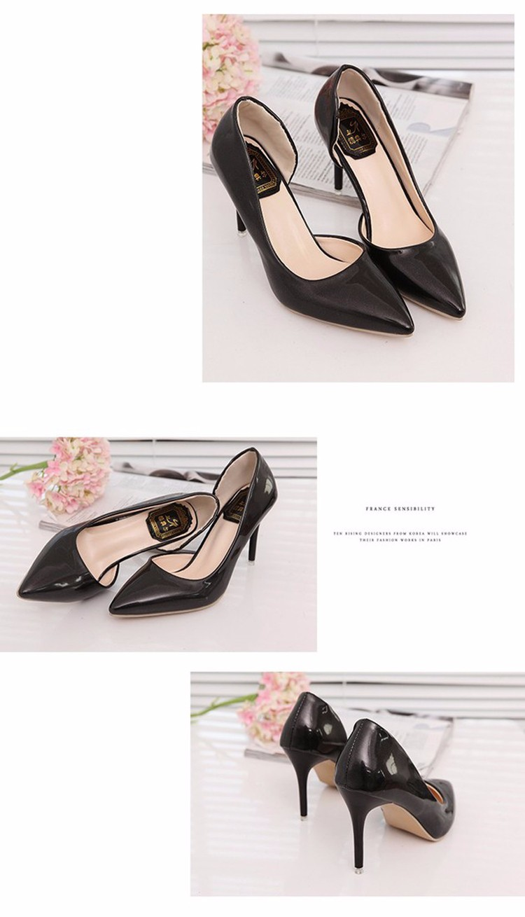Spring 2016 New Fashion Pointed Toe Woman Pumps Shallow Mouth Side Of The Empty High Heels Comfortable Leisure Shoes ST168