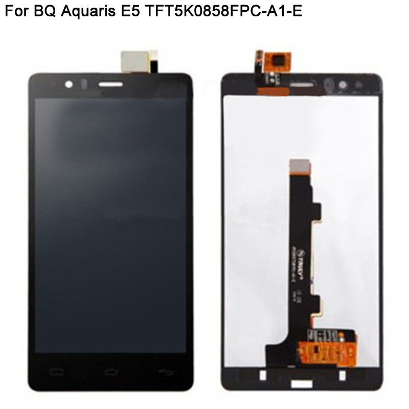 For BQ Aquaris E5 HD TFT5K0858FPC-A1-E LCD Display With Touch Screen Digitizer Assembly Replacement 100% Brand New Black Color