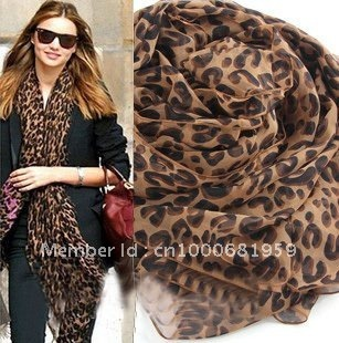 Hot 2color Fashion Leopard Soft Shawl Scarf Wrap Long Stole animal print pashmina celebrity great gift Free shipping
