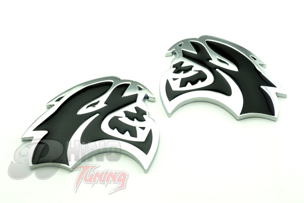 Brand New 1 Pair HELLCAT Car Side Plate Wing Fender Self-adhesive Badge Emblem for Dodge Challenger Charger Chrysler 442bk(China (Mainland))