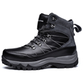 Hot Rechargeable heating 60 degree keep warm boots unisex Outdoor hiking shoes women winter genuine leather