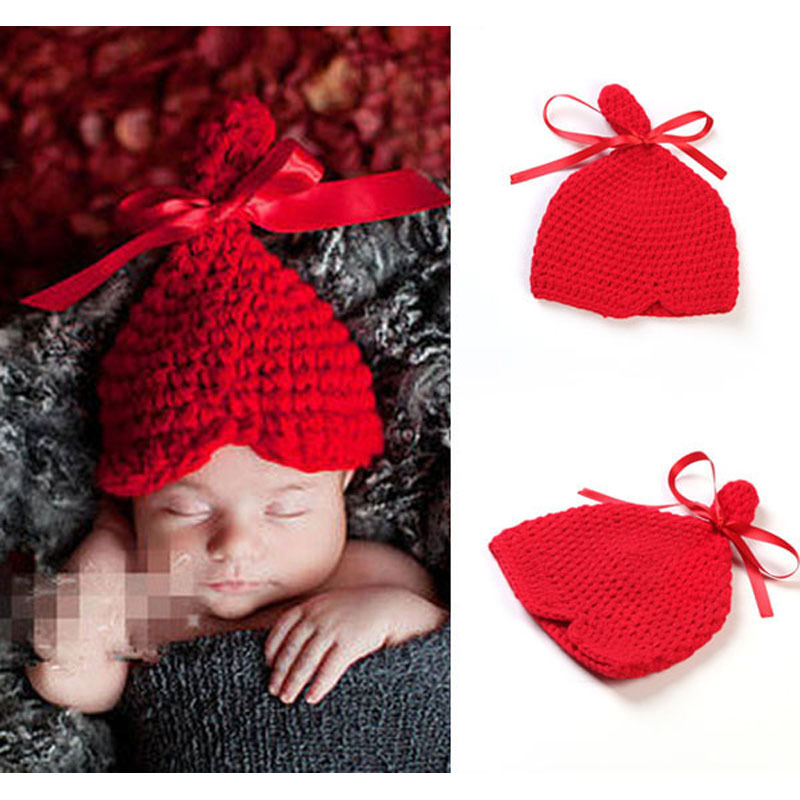 Crochet Baby Hat With Ribbon Pattern : Crochet Pattern Baby Hat with Ribbon Bow Newborn Infant ...