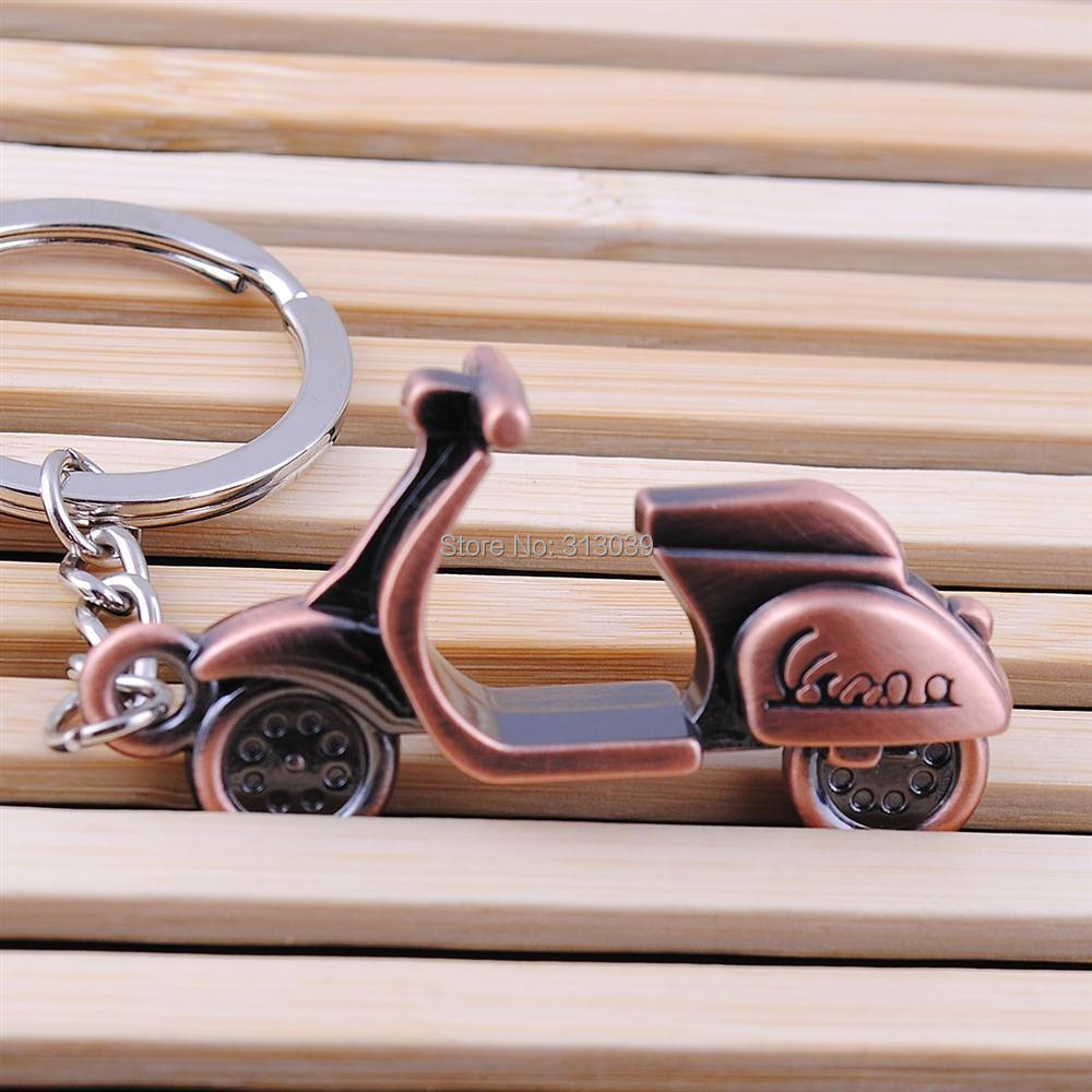 Hot sale Antique Bronze Plated vespa Motorbike Key chain Personality Motorcycle Keychain For Ladies IB021 P(China (Mainland))