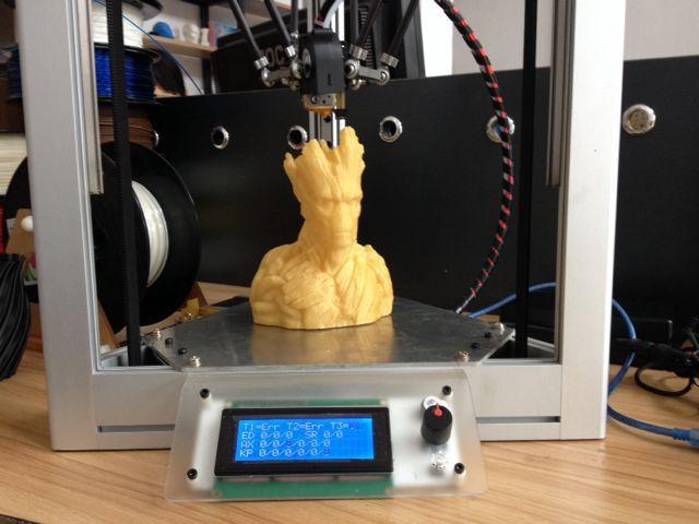 Newest All-Aluminum Self-assembly kossel printer delta 3D printer delta printer Reprap DIY full kit rostock 3d printer