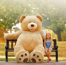 Buy 260CM Super Big Teddy Bear Soft Plush Toy PP Cotton Huge Stuffed Bear Brown Snuggle Bear Plush Chrismas Gift for $354.20 in AliExpress store